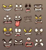 Monster faces Royalty Free Stock Photo