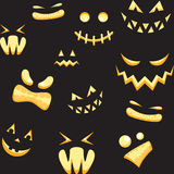 Monster faces Stock Images