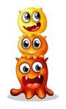 Monster-Familie Stockfoto