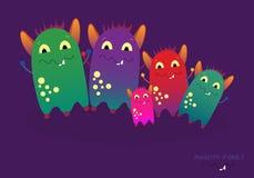 Monster family  illustration. Stock Photo