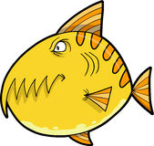 Monster Fish Vector. Yellow Monster Fish Vector Illustration Stock Photography