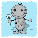 Monster with a flower Royalty Free Stock Images