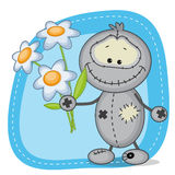 Monster with flowers Stock Images