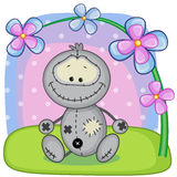 Monster with flowers Royalty Free Stock Image