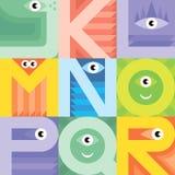 Monster font J K L M N O P Q R Stock Images