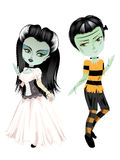 Monster Frankenstein with Bride Royalty Free Stock Photo