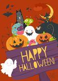 Monster friends guising trick or treat Stock Image