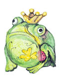 Monster frog with clover tattoo Stock Photos