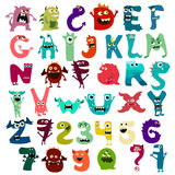 Monster funny cut aphabet with English letter. Vector Stock Photos