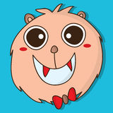 Monster fur cute isolated Royalty Free Stock Photography