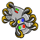 Monster Gamer Claws Holding Games Controller Stock Image