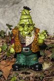 Monster. A monster garden gnome decoration stock images