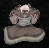 Monster geisha hand draw Royalty Free Stock Image