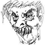 Monster-Gesicht Lizenzfreie Stockfotos