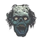 Monster-Gesicht, das mit den scharfen Zähnen schreit Stockbild