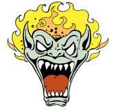 Monster-Gesicht mit Flamme Lizenzfreies Stockfoto