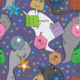 Monster Ghost Seamless Pattern_eps Royalty Free Stock Photos