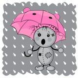 Monster girl. Under an umbrella Stock Photo