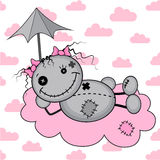 Monster girl on a cloud Stock Image