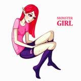 Illustration. Art creation girl Stock Image