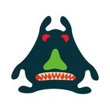 Monster graphic.  Isolated on white background. Royalty Free Stock Photos