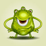 Monster Green Cartoon. Cute green Cartoon Monster. monster Green isolated object Royalty Free Stock Images
