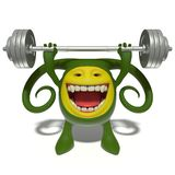 Monster green weight-lifter Stock Photo
