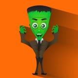 Monster Halloween vector illustration. Monster Halloween scary undead art vector illustration royalty free illustration