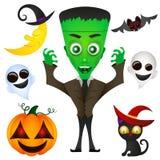 Monster Halloween vector illustration. Monster Halloween scary undead art vector illustration vector illustration