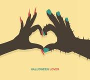 Monster hands make heart shape. For Halloween background,vector Royalty Free Stock Images
