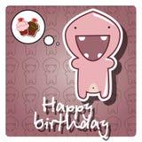 Monster happy birthday card Stock Image