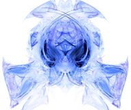 Monster head fractal generated. Set on a white background Royalty Free Stock Image