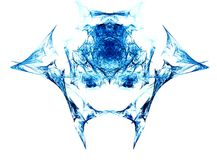 Monster head fractal generated. Set on a white background Royalty Free Stock Images
