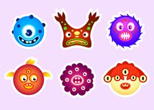 Monster head stickers royalty free stock photography