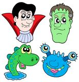 Monster heads collection Stock Image