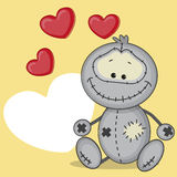 Monster with hearts Royalty Free Stock Photo