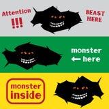 Monster in het barstgat royalty-vrije illustratie