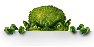 Monster het Gluren royalty-vrije illustratie