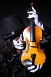 Monster het spelen viool Royalty-vrije Stock Foto's