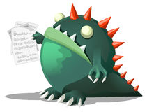 Monster Holding Papers Royalty Free Stock Images