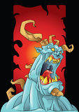 Monster with horns background Stock Images