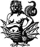 Monster illustration in black and white