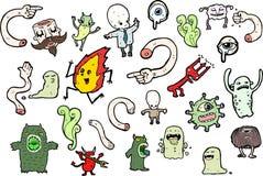 Monster illustration set Royalty Free Stock Photography