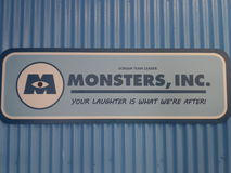 Monster, inc sign Royalty Free Stock Image