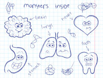 Monster inom stock illustrationer