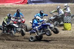 2013 Monster Jam quad racing Stock Photos