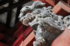Monster on Japanese Shrine Stock Photography