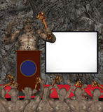 Monster Orc King Rallying His Troops Illustration Royalty Free Stock Photos