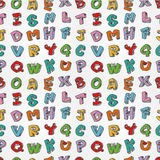 Monster letters seamless pattern Royalty Free Stock Photography