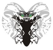 Monster lion butterfly Stock Photo